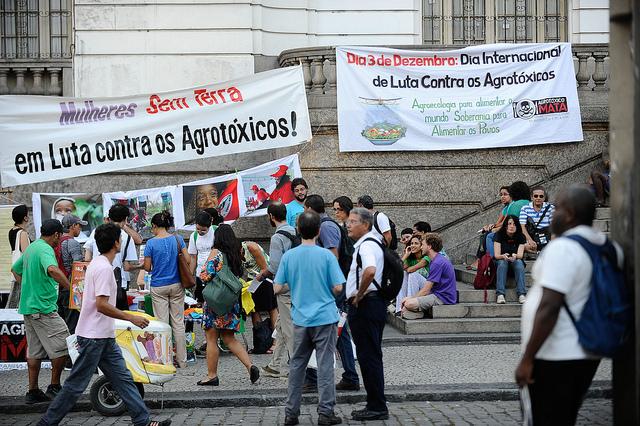 Protesto contra o uso de agrotóxicos em frente a câmara dos vereadores do Rio de Janeiro / Fernando Frazão/Agência Brasil